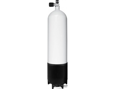 12L Pojedyncza butla stalowa, długa, 230 Bar, pojedynczy zawór