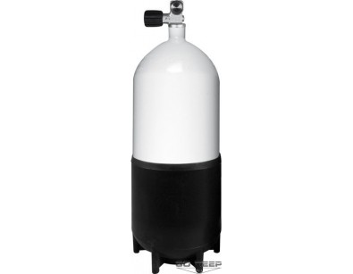 12L Pojedyncza butla stalowa , krótka, 230 Bar, pojedynczy zawór